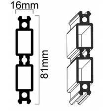Conector para perfil de 100 mm