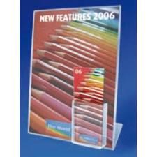 Portagráficas con cajetín para folletos