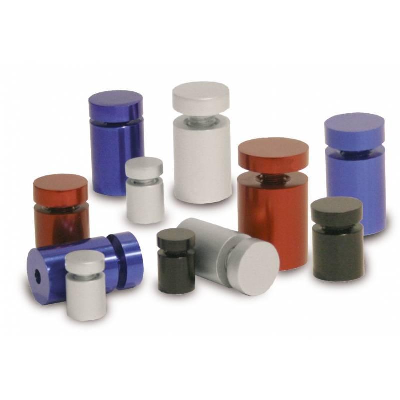 Embellecedor / metopa para cartel de pared en aluminio, color gris, negro, azul o rojo