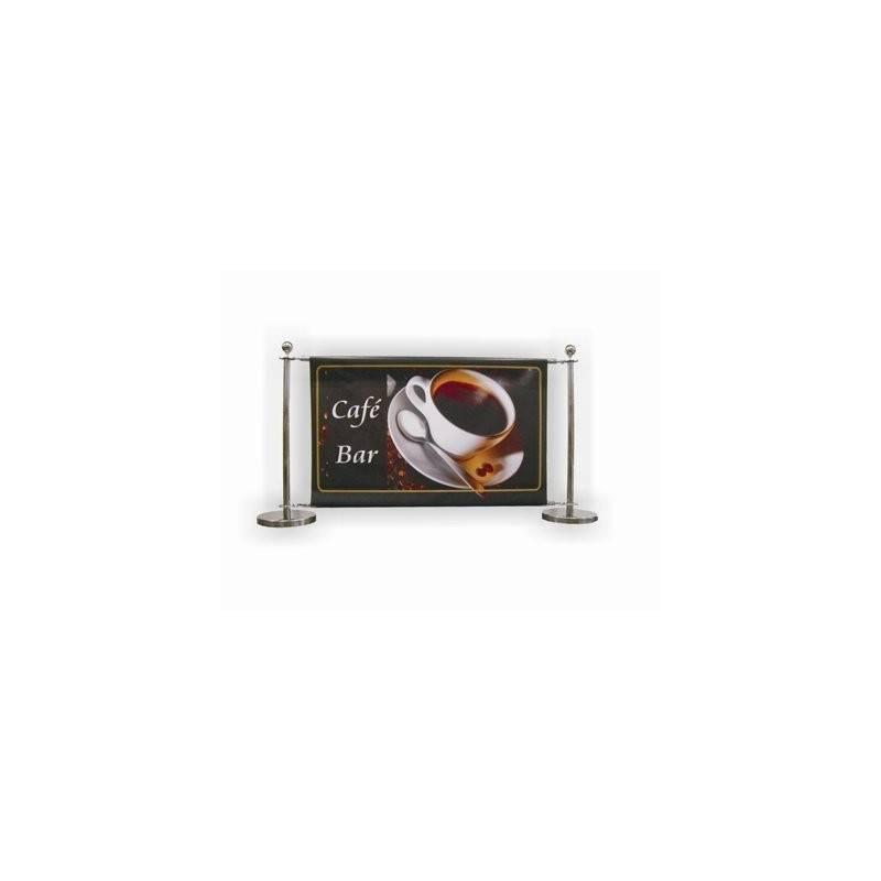 Banner cafe CROMADO anillas montaje