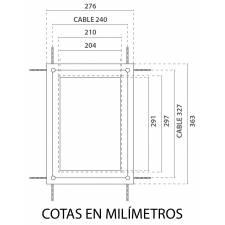 Carpeta A4 con LED medidas