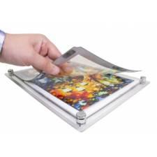 Carpeta A4 con LED sujeción de gráfica con imán