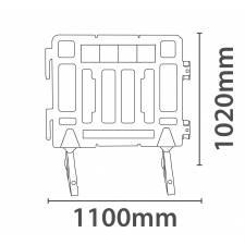 Valla separadora de 110 cm medidas