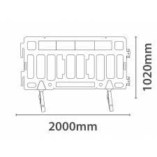 Valla separadora de 2 metros medidas