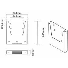 Portafolletos simple para A4 medidas
