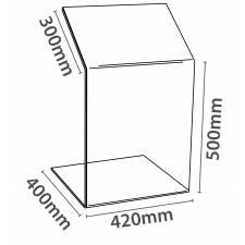 Atril con soporte para A3 cotas