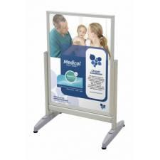 Soporte de aluminio con patas para cartel de 50x70 cm