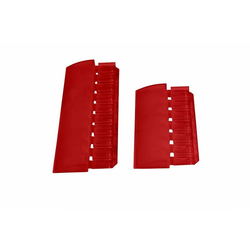 Remates rojos del sistema de fabricación de señales.