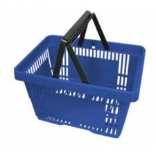 Cesta de compra azul