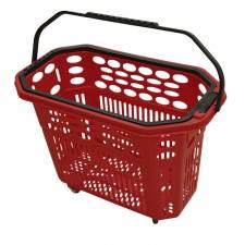 Cesta trolley de compra roja