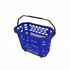 Cesta trolley de compra azul