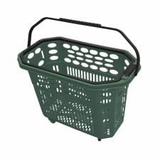 Cesta trolley de compra verde