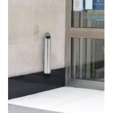Cenicero de pared para exterior Popkum ejemplo de instalación