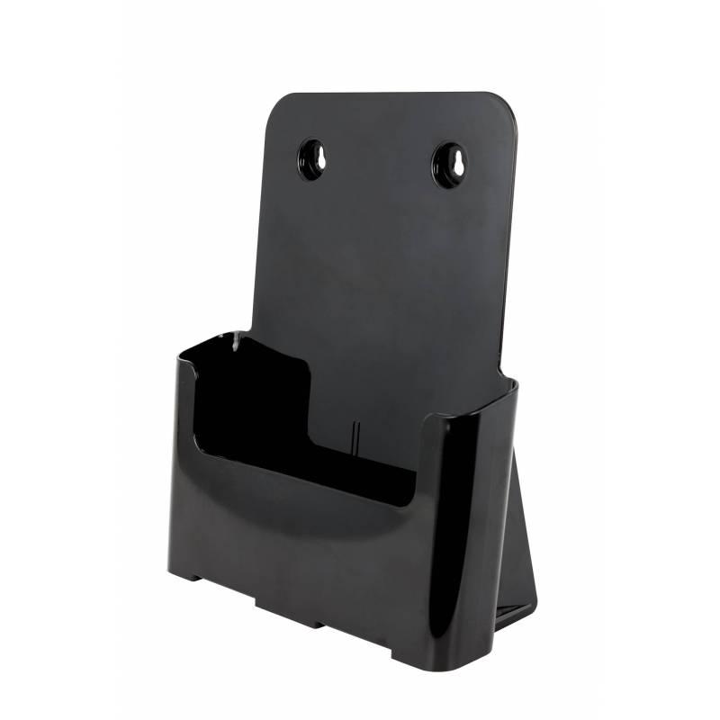 Portafolletos Negro para DIN A4 con 1 bolsillo