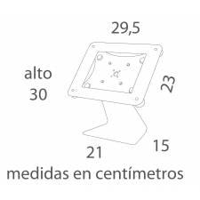 MEDIDAS SOPORTE SOBREMESA PARA TABLET o iPAD