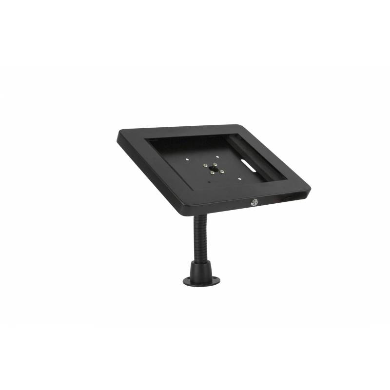 SOPORTE FLEXIBLE PARA TABLET CON MARCO DE METAL EN COLOR NEGRO