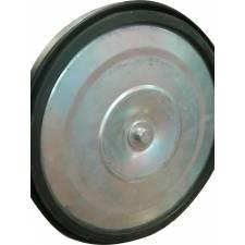 Catenaria / poste separador de cinta detalle de la base