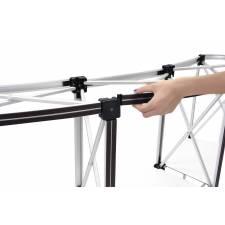 Mostrador plegable curvo de gran tamaño fácil montaje