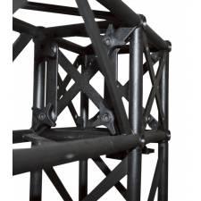 Esquina para Truss cuadrado negro ejemplo de uso