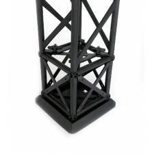 Base para Truss cuadrado negro ejemplo de uso, cubo y tramo NO incluido
