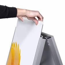 Caballete de Aluminio para rígidos inserción del panel