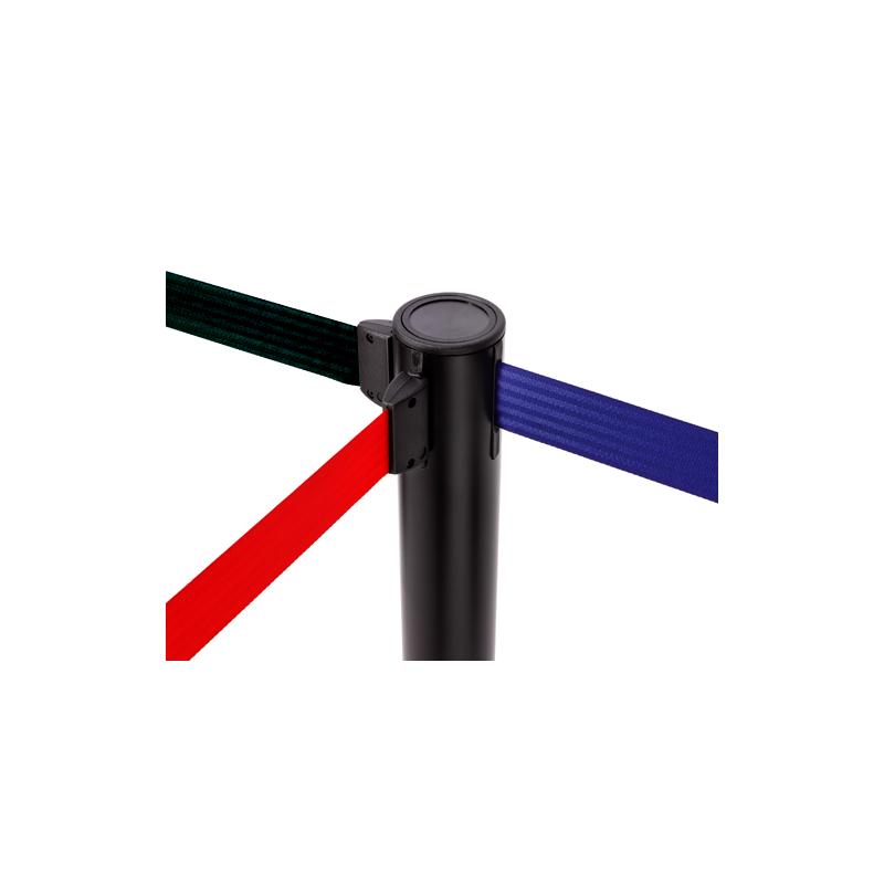 Poste de cinta extensible con 2 o 3 metros de cinta colores de cinta disponibles