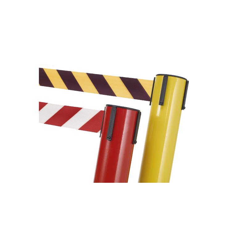 Poste de seguridad con cinta estensible de 370 cm
