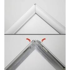 Caballete de exterior para cartel 50x70 o 70x100 cm. marco click