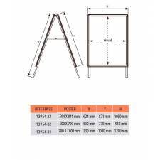 Caballete de Aluminio DIN A1 medidas
