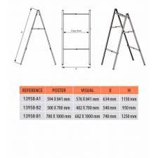Caballete plegable de aluminio medidas