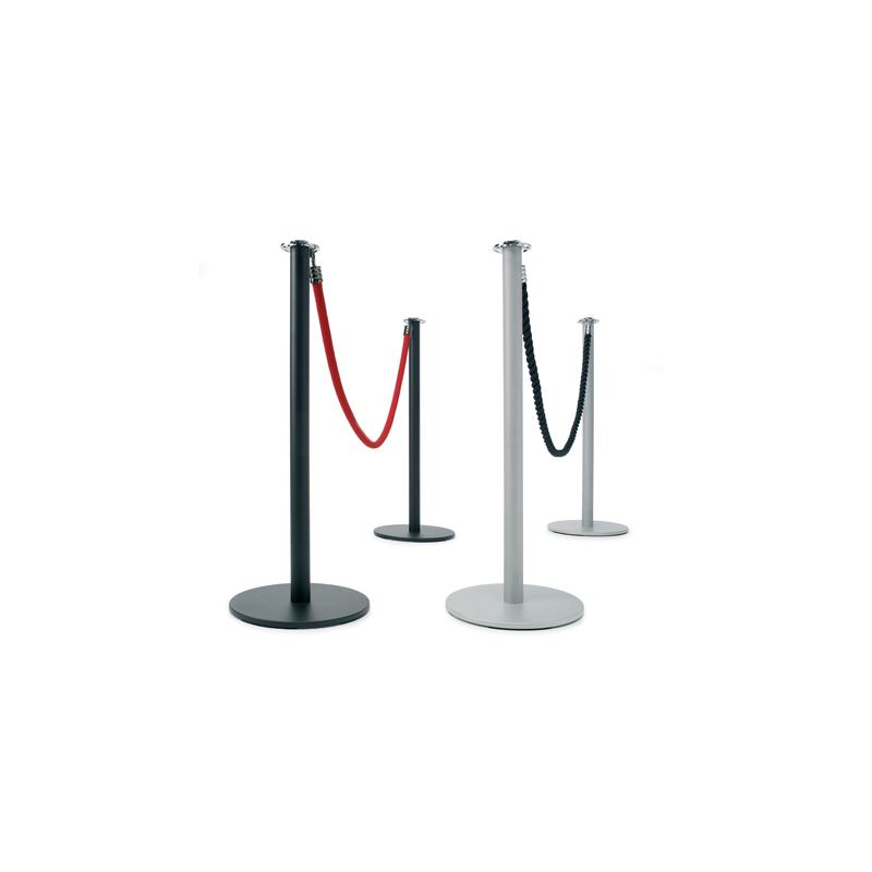 Poste separador negro o gris plata para cordón
