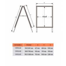 Caballete de aluminio apto para exterior medidas