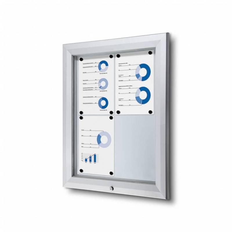 Vitrina para exterior magnética ignífuga para 4 DIN A4
