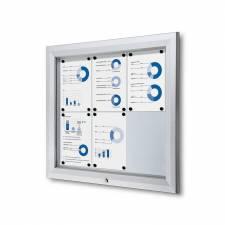 Vitrina para exterior magnética ignífuga para 6 DIN A4