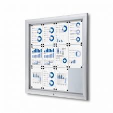 Vitrina para exterior magnética ignífuga para 12 DIN A4