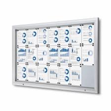 Vitrina para exterior magnética ignífuga para 21 DIN A4