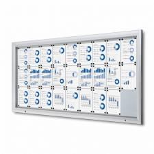 Vitrina para exterior magnética ignífuga para 27 DIN A4