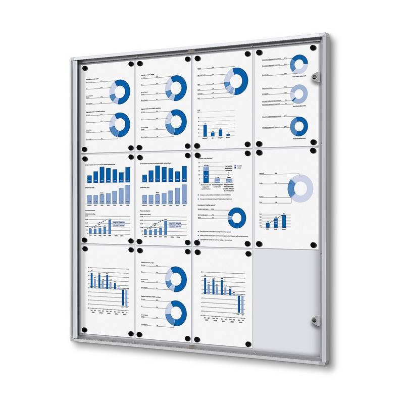 Vitrina magnética económica para 12 DIN A4