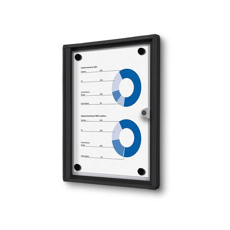 Vitrina magnética marco negro para 1 DIN A4