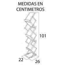 Portacatálogos plegable para folletos A5  MEDIDAS