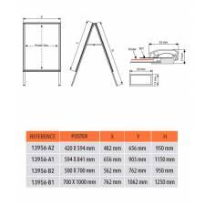 Caballete de aluminio impermeable para exterior medidas