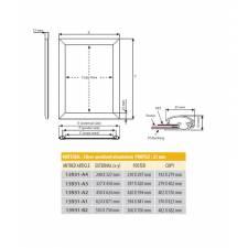 Marco perfil de aluminio de 25 mm medidas