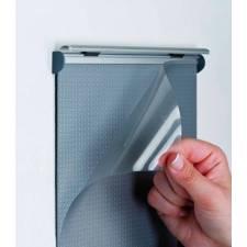 Sistema de información y directorios para puertas o paredes con plástico protector