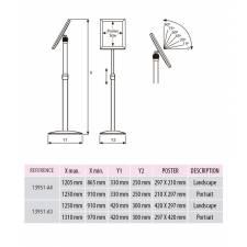 Portacartel regulable en altura e inclinación para A4 o A3 medidas