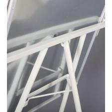 Pizarra para rotuladores con trípode, vista posterior
