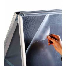 Caballete de Aluminio marco click y plástico protector