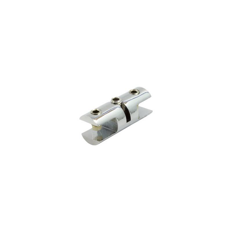Pinza doble cromada para Cable Kit