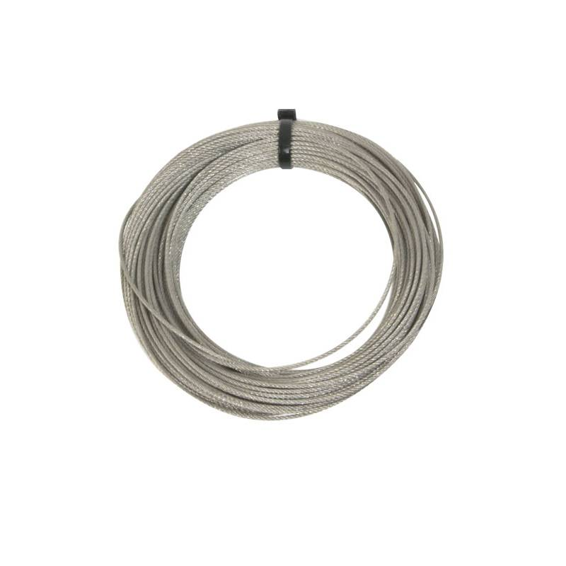 Bobina de 25 metros de cable de acero para Cable Kit