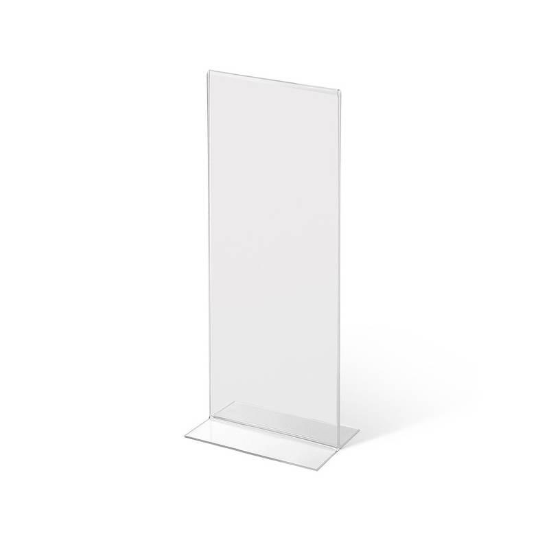 Soporte doble cara para gráfica tamaño 1/3 de A4 vertical