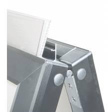 Caballete de Aluminio para rígidos detalle de la brisagra